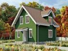 Одноэтажный жилой дом с мансардой
